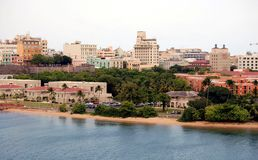 Городской пейзаж Сан-Хуана Стоковое Изображение