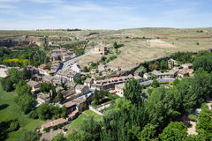 Городской пейзаж Сеговии от Alcazar, Сеговии Стоковые Изображения
