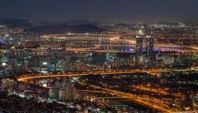 Городской пейзаж Сеула Стоковая Фотография