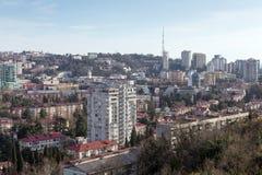 Городской пейзаж Сочи Россия Стоковое Фото