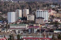 Городской пейзаж Сочи Россия Стоковые Фото