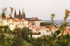 Городской пейзаж старого городка в Праге, чехии Стоковые Фотографии RF