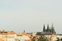 Городской пейзаж старого городка в Праге, чехии Стоковое фото RF