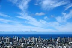 Городской пейзаж столичного жителя Гонолулу Стоковое Фото