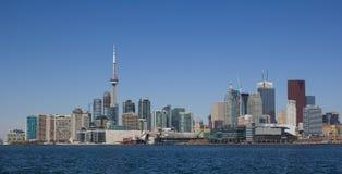 Городской пейзаж Торонто от востока стоковая фотография rf