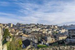 Городской пейзаж Франция Emilion Святого Стоковое фото RF
