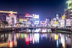Городской пейзаж Фукуоки Стоковые Фото