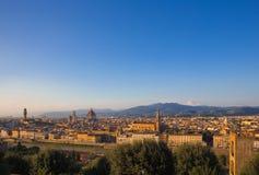 Городской пейзаж Флоренса стоковые фото