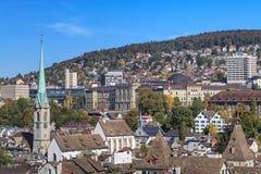 Городской пейзаж Цюриха в осени Стоковое Изображение RF