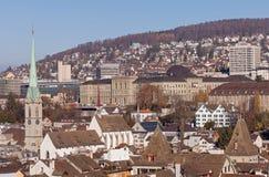Городской пейзаж Цюриха Стоковые Изображения