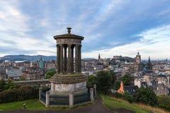 Городской пейзаж Эдинбурга от холма Calton Стоковое Изображение RF