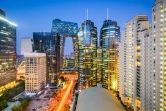Городской пейзаж Beijijng CBD Стоковые Изображения