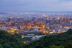 Городской пейзаж Dakeng, Taichung Стоковое Изображение RF