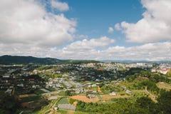 Городской пейзаж Dalat, Вьетнам стоковая фотография