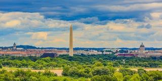 Городской пейзаж DC Вашингтона Стоковые Фотографии RF