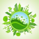 Городской пейзаж Eco Стоковое Изображение
