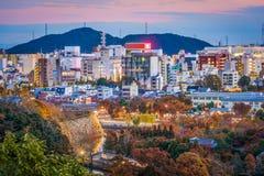 Городской пейзаж Himeji Японии стоковое изображение rf