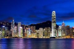 городской пейзаж Hong Kong стоковое изображение rf
