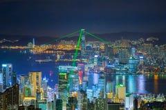 городской пейзаж Hong Kong Стоковая Фотография