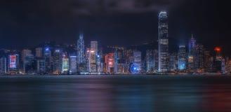 городской пейзаж Hong Kong Стоковые Изображения
