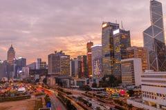 городской пейзаж Hong Kong стоковые фотографии rf