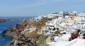 Городской пейзаж Ia, городка на острове Греции Santorini Стоковые Изображения RF