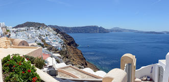 Городской пейзаж Ia, городка на острове Греции Santorini Стоковые Фото