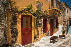 Городской пейзаж, Kea, Киклады, Греция Стоковое Изображение RF