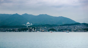 Городской пейзаж Miyajimaguchi Стоковая Фотография RF