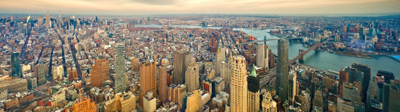 городской пейзаж New York Стоковые Изображения