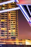 Городской пейзаж nighttime Стоковое Изображение