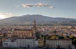 Городской пейзаж Santa Croce, Флоренс, Firenze, Тоскана, Италия Стоковые Фото