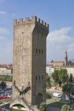 Городской пейзаж Torre Сан Niccolo и Флоренса, Италия Стоковое Изображение RF