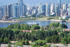 городской пейзаж vancouver Канады Стоковые Изображения