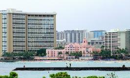 Городской пейзаж Waikiki Стоковое фото RF