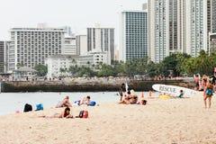 Городской пейзаж Waikiki Стоковые Изображения