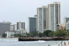 Городской пейзаж Waikiki Стоковое Изображение RF