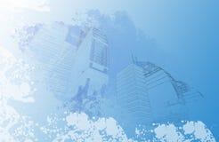 Городской плакат Стоковые Фотографии RF