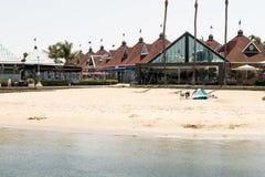 Городской пляж; Coronado, покупки Калифорнии на пристани стоковые фотографии rf