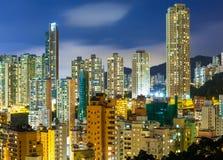 Городской район в Гонконге стоковое изображение rf