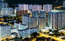 Городской район в Гонконге стоковое фото rf