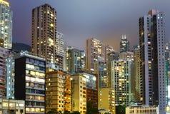 Городской район в Гонконге стоковая фотография