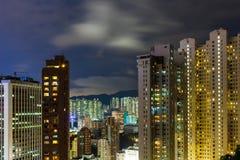Городской район в Гонконге Стоковое Фото