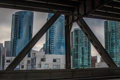 Городской Сан-Франциско от моста залива Стоковая Фотография