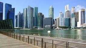 Городской Сингапур от залива Марины Стоковые Изображения RF
