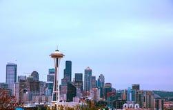 Городской Сиэтл как увидено от парка Керри Стоковые Фото