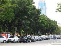 Городской транспорт в Джакарте стоковые фото