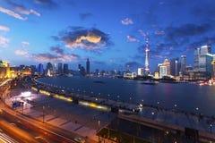Городской транспорт Шанхая стоковые фотографии rf