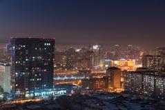 городской туман сверх стоковое изображение