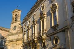 Городской центр Galatina исторический - Salento - Италия стоковая фотография rf